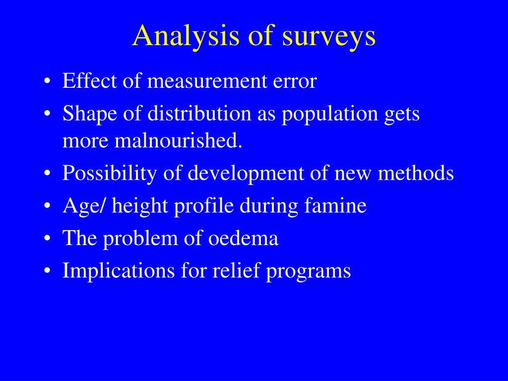 analysis of surveys l.
