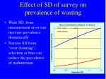 effect of sd of survey on prevalence of wasting