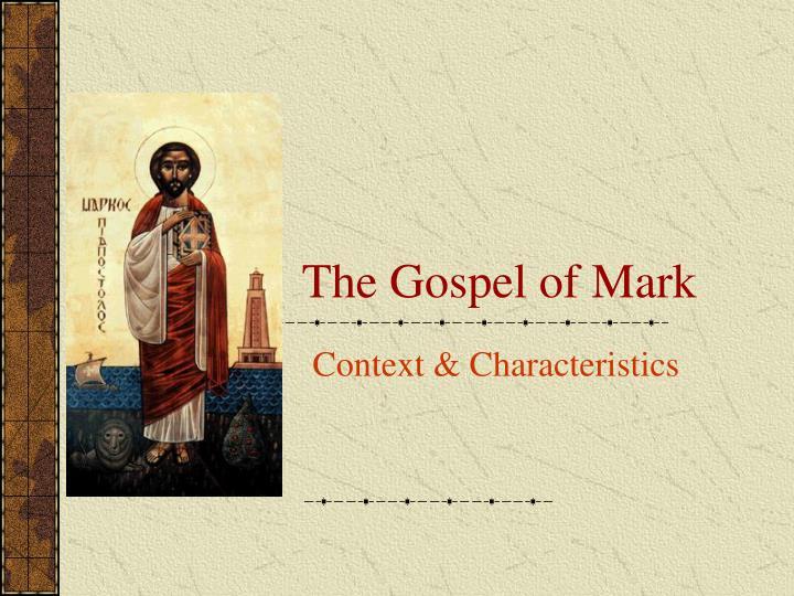 the gospel of mark n.