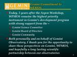 gemini commitment to wfmos
