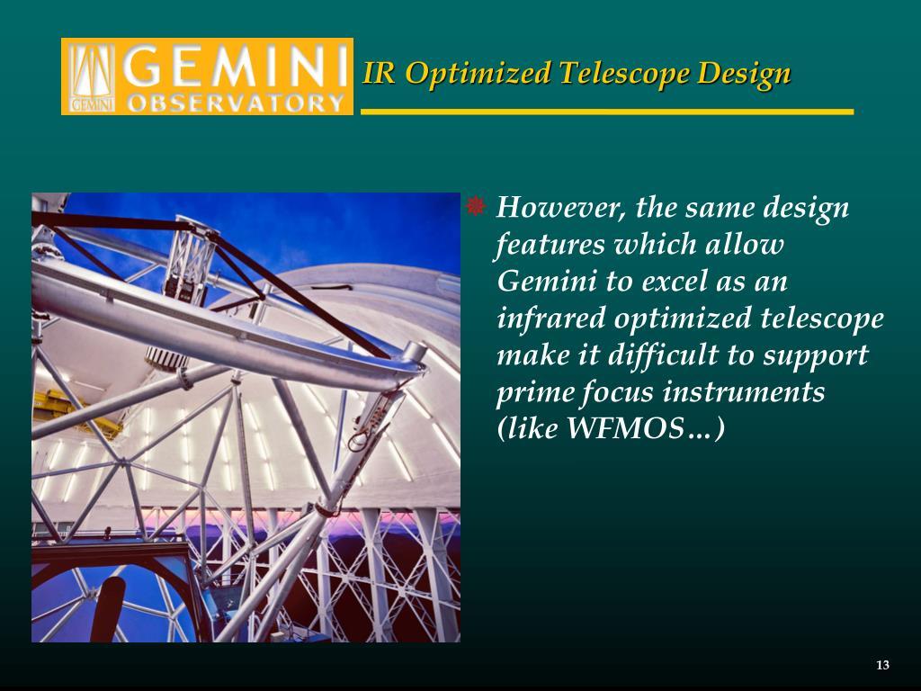 IR Optimized Telescope Design