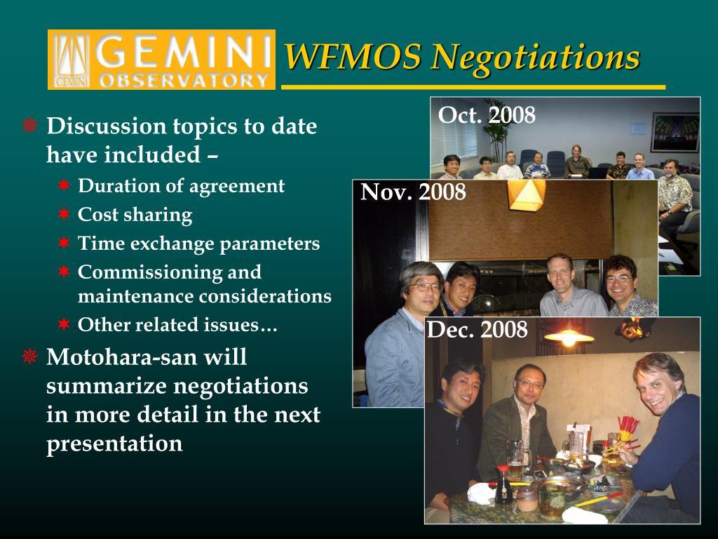 WFMOS Negotiations