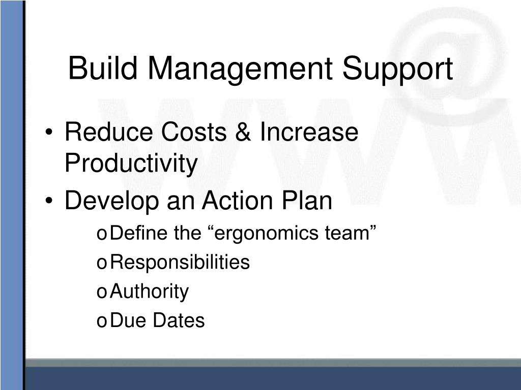 Build Management Support