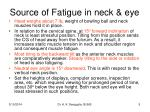 source of fatigue in neck eye