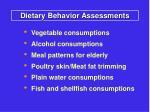 dietary behavior assessments5