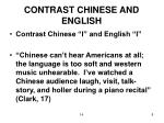 contrast chinese and english