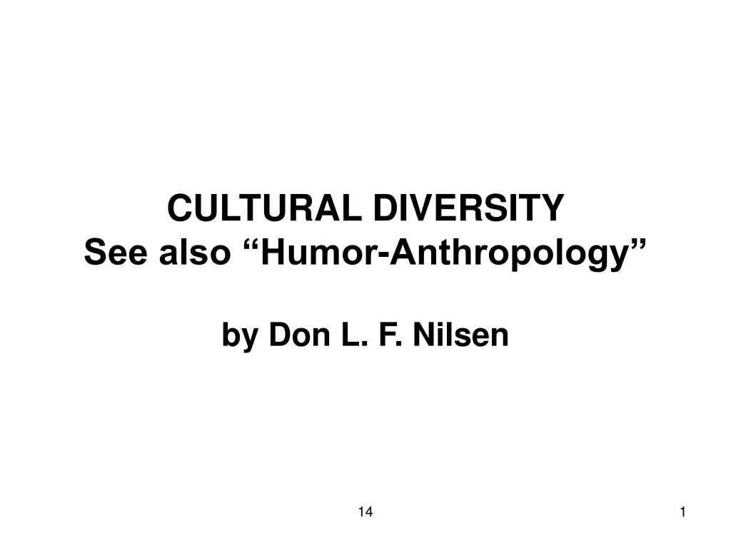 cultural diversity see also humor anthropology l.