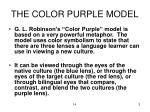 the color purple model