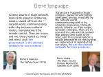 gene language