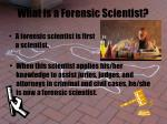 what is a forensic scientist