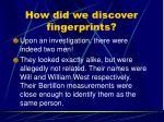 how did we discover fingerprints9