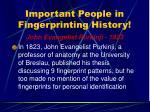 important people in fingerprinting history13
