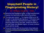important people in fingerprinting history14