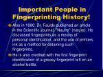 important people in fingerprinting history17