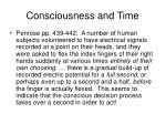 consciousness and time