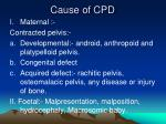 cause of cpd