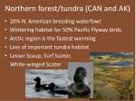 northern forest tundra can and ak