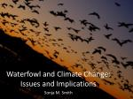 waterfowl and climate change issues and implications