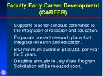 faculty early career development career