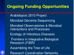 ongoing funding opportunities