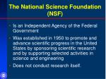 the national science foundation nsf