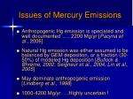 issues of mercury emissions