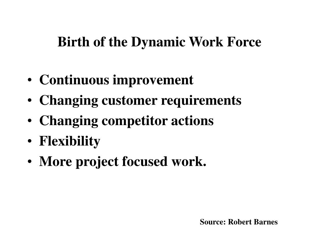 Birth of the Dynamic Work Force