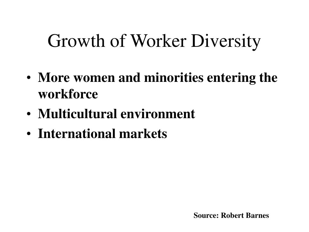 Growth of Worker Diversity