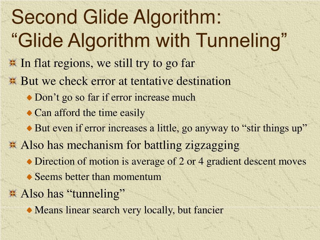 Second Glide Algorithm: