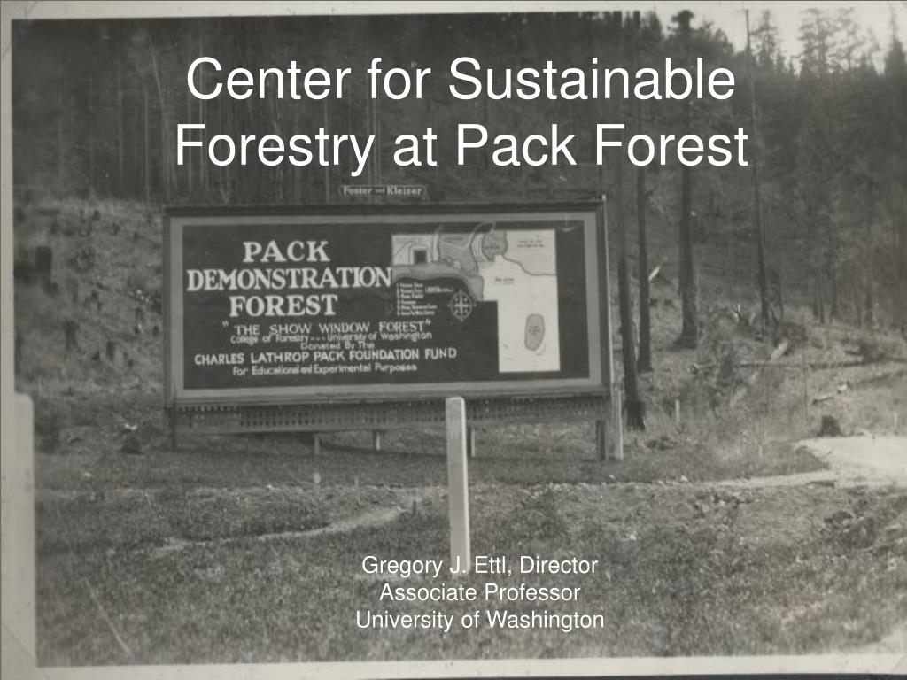 center for sustainable forestry at pack forest l.