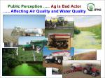 public perception ag is bad actor affecting air quality and water quality