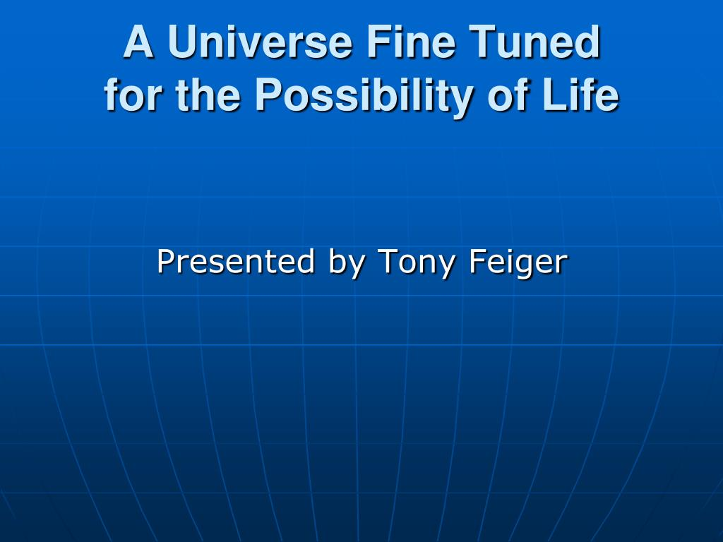 a universe fine tuned for the possibility of life l.