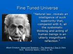 fine tuned universe28