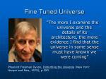 fine tuned universe29