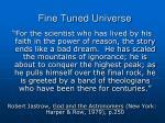 fine tuned universe62