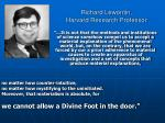 richard lewontin harvard research professor9