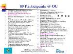 89 participants @ ou
