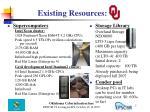 existing resources ou