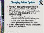 changing folder options