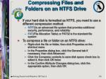 compressing files and folders on an ntfs drive
