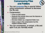 compressing files and folders