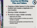 copying and moving files and folders