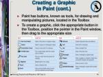 creating a graphic in paint cont