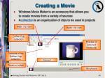 creating a movie