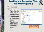 creating and renaming files and folders cont84