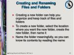 creating and renaming files and folders
