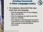 creating documents in other languages cont