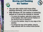 moving and resizing the taskbar