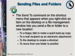 sending files and folders