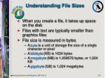 understanding file sizes